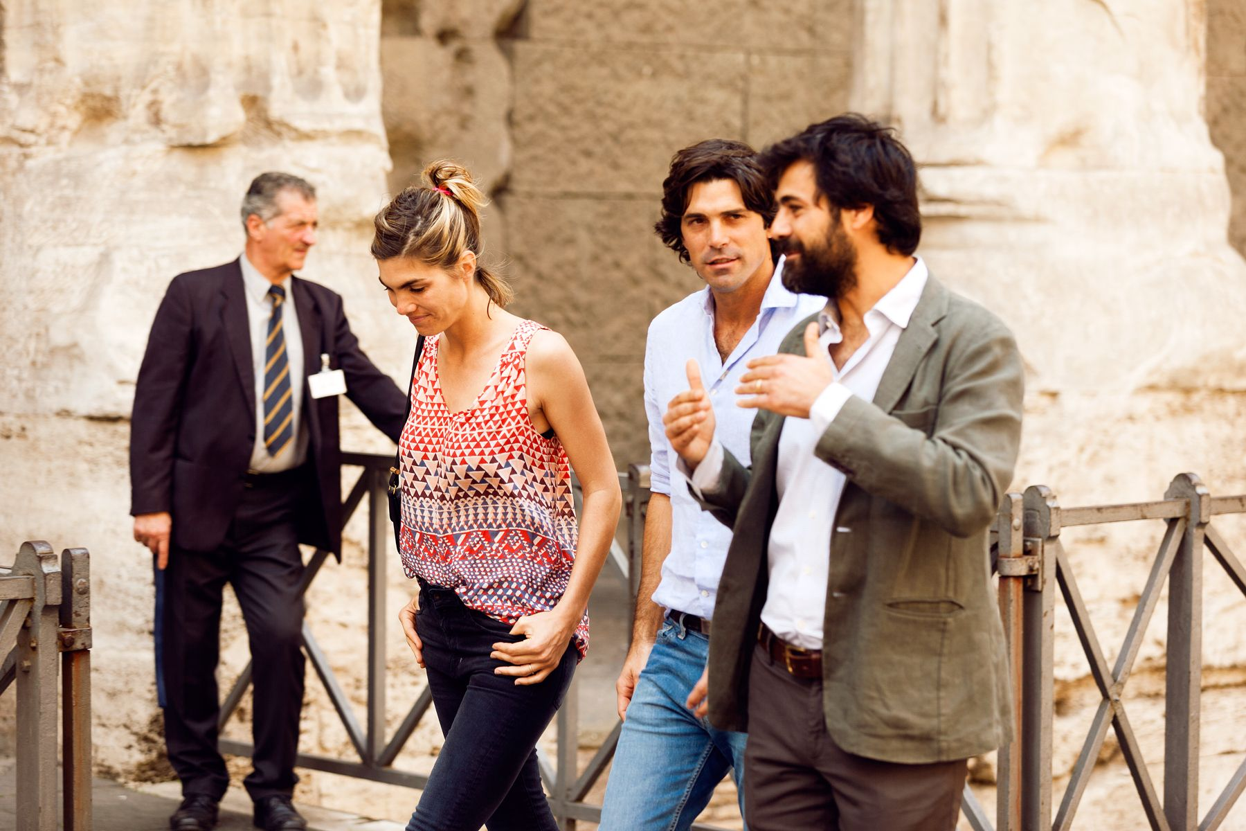 Nacho Figueras and Delfina in Rome